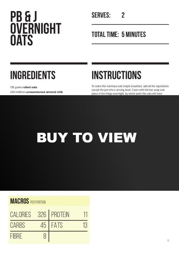 Sample recipe page